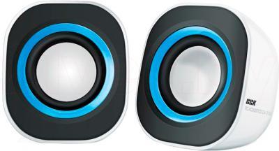 Мультимедиа акустика BBK CA-200S (бело-синий) - общий вид