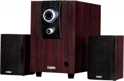 Мультимедиа акустика BBK CA-218S (темное дерево) - общий вид