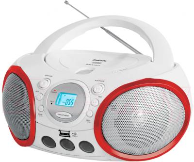 Магнитола BBK BX150U (White-Red) - общий вид
