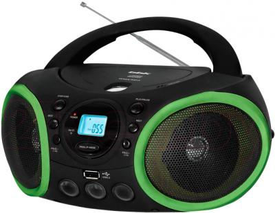 Магнитола BBK BX150U (Black-Green) - общий вид
