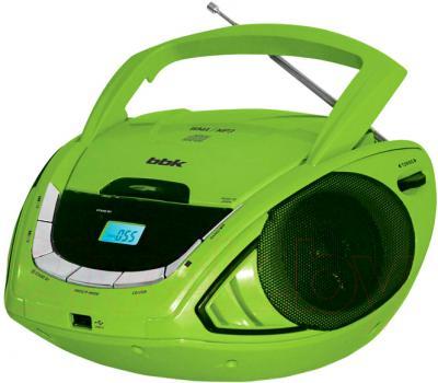 Магнитола BBK BX190U (черно-зеленый) - общий вид