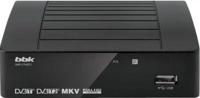 Тюнер цифрового телевидения BBK SMP127HDT2 (темно-серый) - общий вид