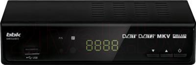 Тюнер цифрового телевидения BBK SMP244HDT2 (черный) - общий вид