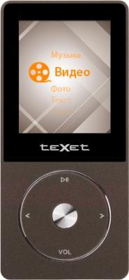MP3-плеер TeXet T-55 (8GB, коричневый) - общий вид