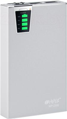 Портативное зарядное устройство Hiper MP12500 (серебристый) - общий вид