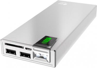 Портативное зарядное устройство HIPER MP20000 (серебристый) - разъемы для подключения