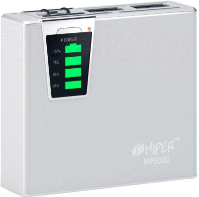 Портативное зарядное устройство Hiper MP5000 (серебристый) - общий вид