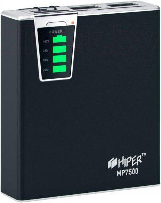Портативное зарядное устройство Hiper MP7500 (черный) - общий вид