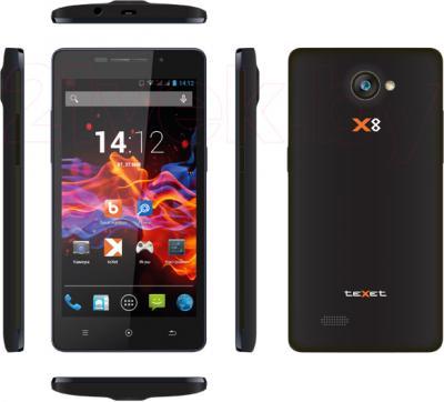 Смартфон TeXet X8 / TM-5092 (черный) - обзор всех панелей