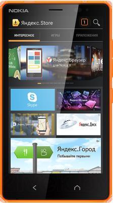 Смартфон Nokia X2 Dual (оранжевый) - общий вид