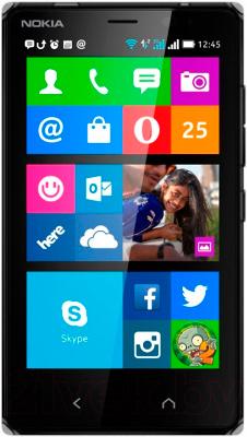Смартфон Nokia X2 Dual (черный) - общий вид
