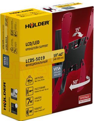 Кронштейн для телевизора Holder LCDS-5019 (белый) - упаковка