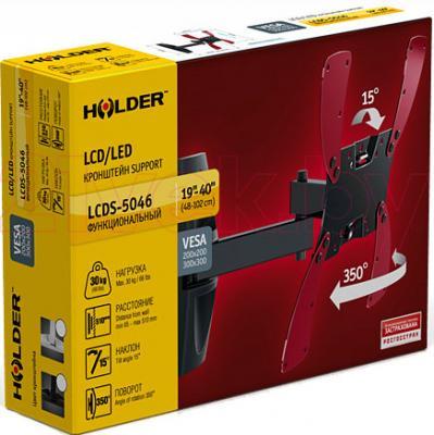 Кронштейн для телевизора Holder LCDS-5046 (черный глянец) - упаковка