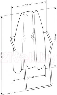 Аксессуар для утюга Holder IR-F1-W (кронштейн) - габаритные размеры
