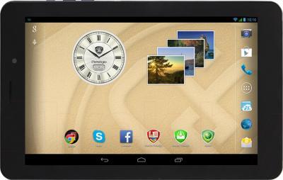 Планшет Prestigio MultiPad 4 Quantum 8.0 16GB 3G (PMT5487_3G_D) - фронтальный вид (горизонтально)