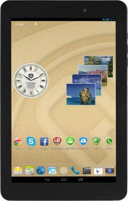 Планшет Prestigio MultiPad 4 Quantum 8.0 16GB 3G (PMT5487_3G_D) - фронтальный вид (вертикально)
