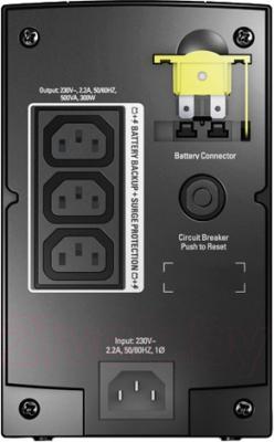 ИБП APC Back-UPS BX500CI - вид сзади
