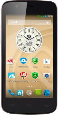 Смартфон Prestigio MultiPhone 5453 Duo (черный) - вид спереди