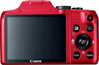Компактный фотоаппарат Canon PowerShot SX170 IS Kit (Red) - вид сзади