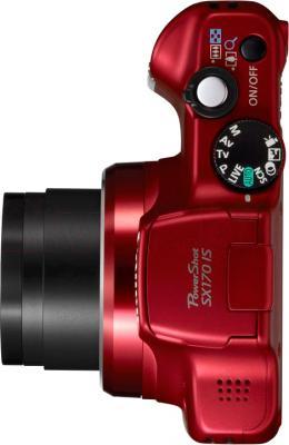 Компактный фотоаппарат Canon PowerShot SX170 IS Kit (Red) - вид сверху