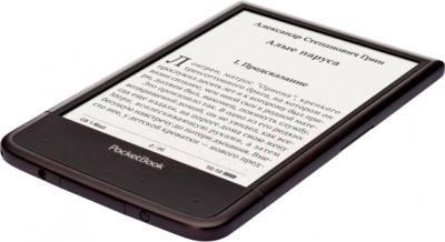 Электронная книга PocketBook Ultra 650 (темно-коричневый) - вид лежа