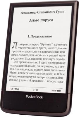 Электронная книга PocketBook Ultra 650 (темно-коричневый) - вполоборота