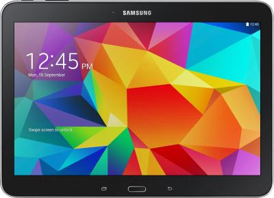 Планшет Samsung Galaxy Tab 4 10.1 16GB Black (SM-T530) - фронтальный вид