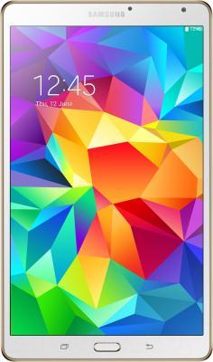 Планшет Samsung Galaxy Tab S 8.4 16GB LTE / SM-T705 (белый) - фронтальный вид