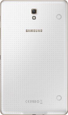 Планшет Samsung Galaxy Tab S 8.4 16GB LTE / SM-T705 (белый) - вид сзади