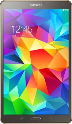 Планшет Samsung Galaxy Tab S 8.4 16GB LTE / SM-T705 (серебристый) - фронтальный вид
