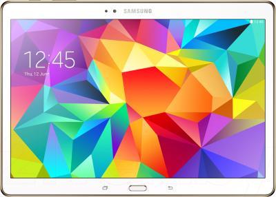Планшет Samsung Galaxy Tab S 10.5 16GB Dazzling White (SM-T800) - фронтальный вид