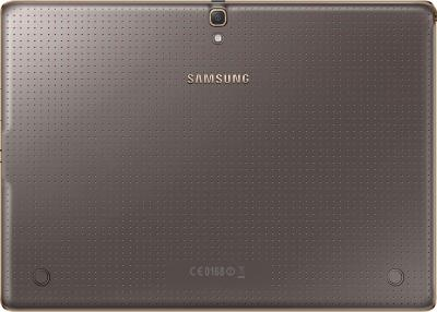 Планшет Samsung Galaxy Tab S 10.5 16GB Silver (SM-T800) - вид сзади