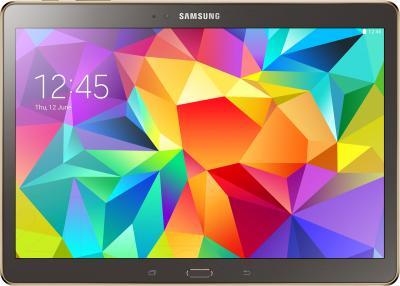 Планшет Samsung Galaxy Tab S 10.5 16GB LTE / SM-T805 (серебристый) - фронтальный вид
