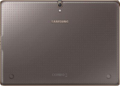 Планшет Samsung Galaxy Tab S 10.5 16GB LTE / SM-T805 (серебристый) - вид сзади