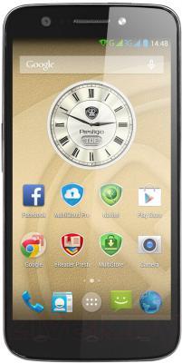 Смартфон Prestigio MultiPhone 5508 Duo (металлик) - вид спереди