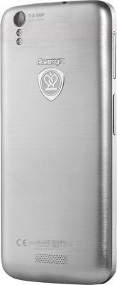Смартфон Prestigio MultiPhone 5508 Duo (металлик) - задняя панель
