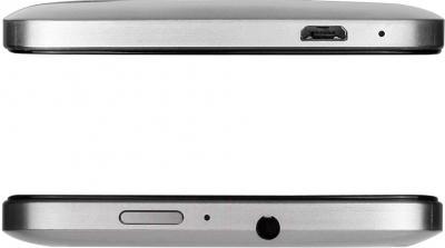 Смартфон Prestigio MultiPhone 5508 Duo (металлик) - вид сверху и снизу