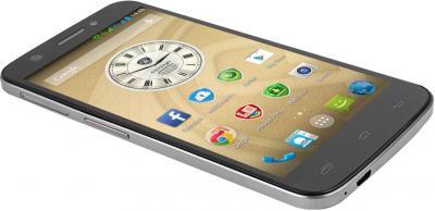 Смартфон Prestigio MultiPhone 5508 Duo (металлик) - общий вид
