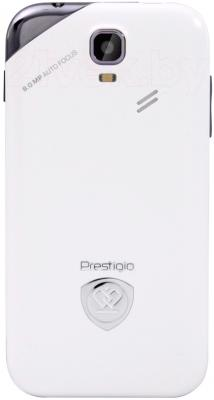Смартфон Prestigio MultiPhone 4044 Duo (белый) - задняя панель