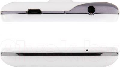 Смартфон Prestigio MultiPhone 4044 Duo (белый) - вид снизу и сверху