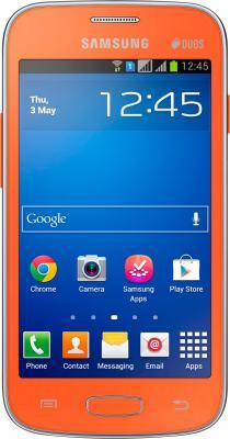 Смартфон Samsung Galaxy Star Plus / S7262 (оранжевый) - вид спереди