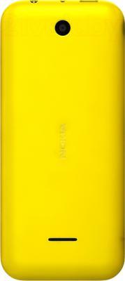 Мобильный телефон Nokia 225 Dual (желтый) - вид сзади
