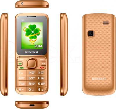 Мобильный телефон Keneksi C7 (золотой) - обзор панелей