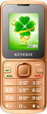 Мобильный телефон Keneksi C7 (золотой) - общий вид