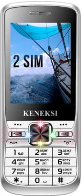 Мобильный телефон Keneksi S2 (серебристый) - общий вид