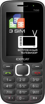 Мобильный телефон Explay TV245 (Black) - общий вид