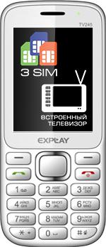 Мобильный телефон Explay TV245 (White) - общий вид