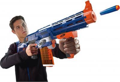 Бластер Hasbro NERF N-Strike Elite Retaliator (98696) - стрельба