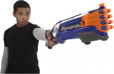 Бластер Hasbro NERF N-Strike Elite Rough Cut (A1691) - стрельба