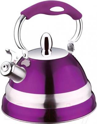 Чайник со свистком Peterhof PH-15580 (фиолетовый) - общий вид
